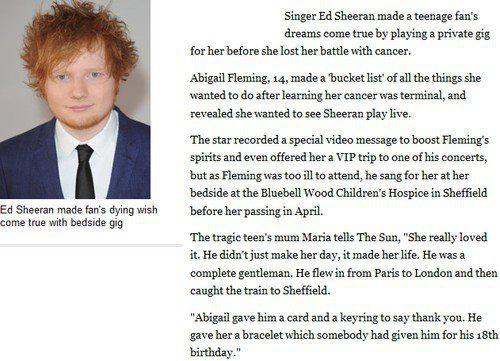 Ed Sheeran - A True Gent