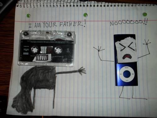 Darth Vader Cassette Tape and iPod Luke Skywalker