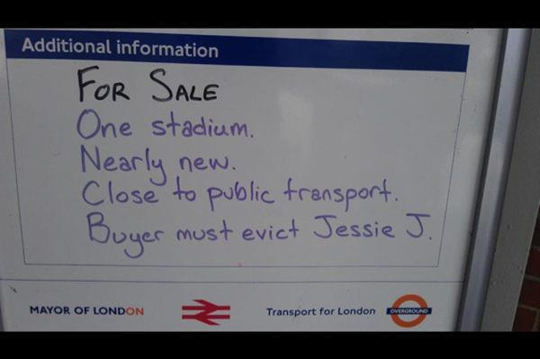 For Sale One Stadium : Must Evict Jessie J