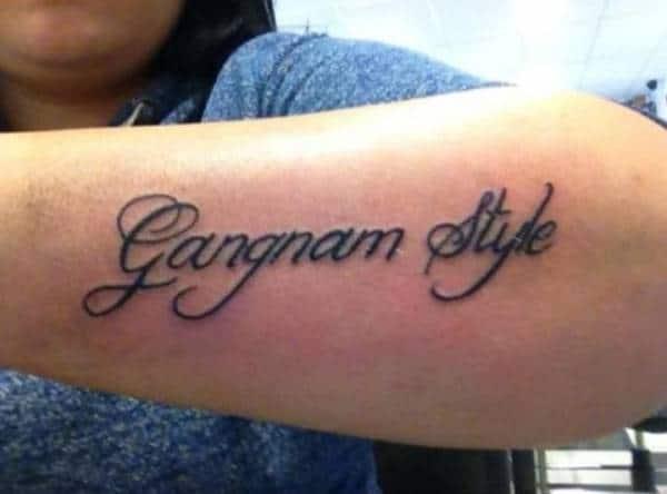 Gangnam Style Tattoo