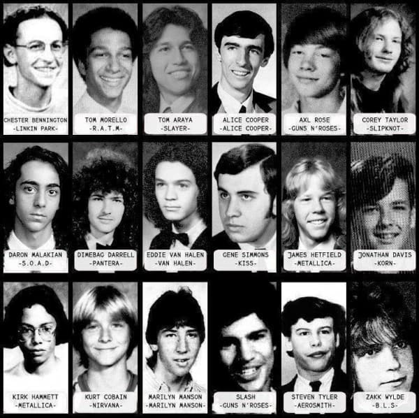 Rock Stars When They Were Younger