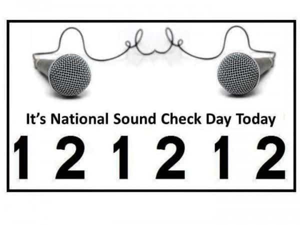 National Soundcheck Day 12.12.12