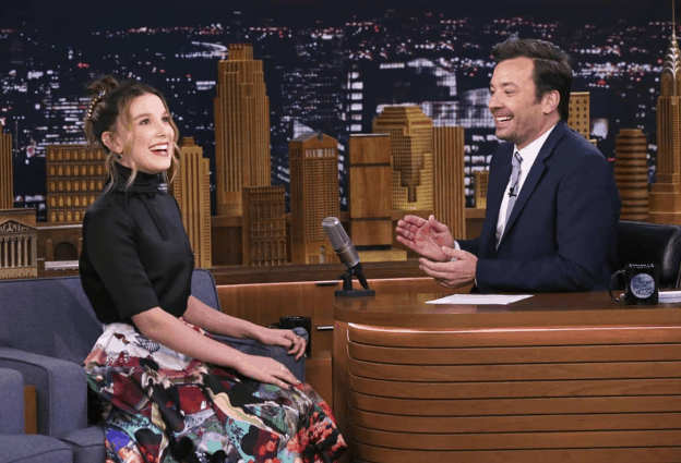 Watch Millie Bobby Brown impersonate Amy Winehouse on The Tonight Show starring Jimmy Fallon